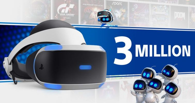 Sony PlayStation VR passes the 3 million headset mark